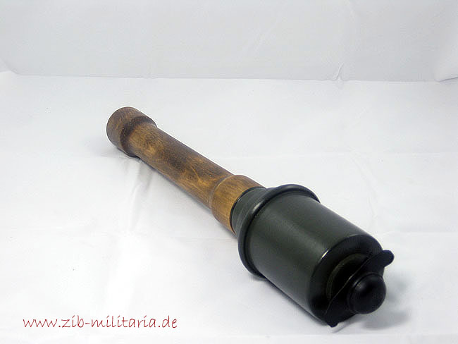 German M43 stick grenade decoration, fieldgrey, wood
