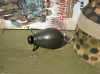 German egg grenade 39 decoration, fieldgrey, wood