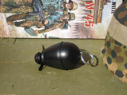 German egg grenade 39 decoration, black, wood