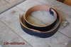 WH leather belt, stamped