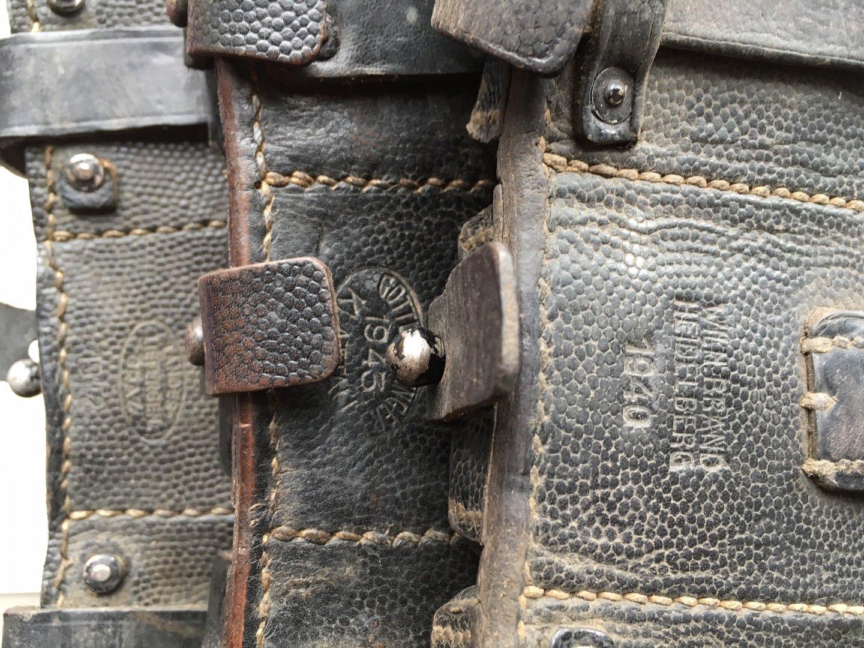 Wh patronentasche k98 original wwii wehrmacht original for K98 riemen anbringen