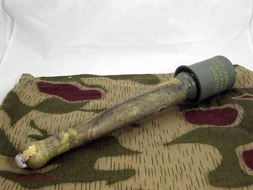 german stick grenade decoration, Version I, metal/wood