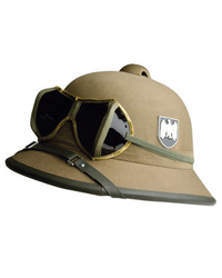 WH DAK desert helmet with googles