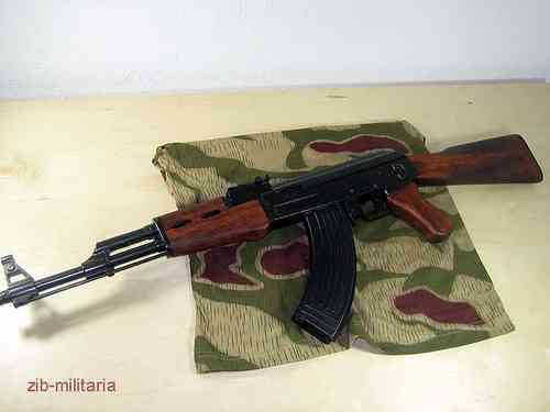 AK47 fixed stock, assault rifle model
