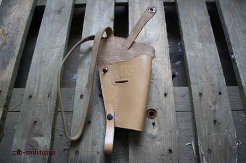 US shoulder M3 holster for Colt 1911, nature leather colour