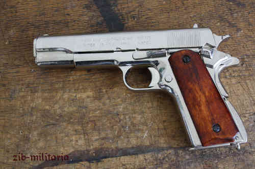 US Colt 1911, nickled, pistol model
