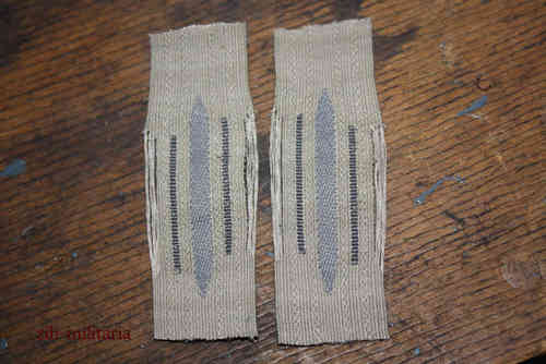 Collar Tab Wehrmacht, unicolour, late model.