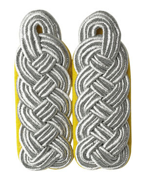 WH Luftwaffe Offizier Major Shoulder Boards, yellow (18316001)