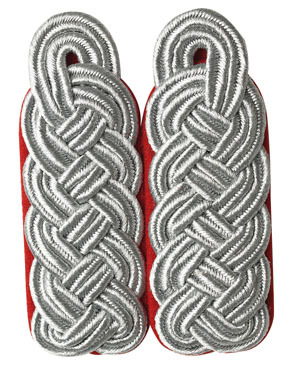 WH Luftwaffe Offizier Major Shoulder Boards, red (18316006)