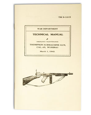 US technical manual Thompson 1928A1