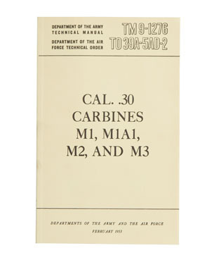 US technical manual Carbine M1,M2,M3