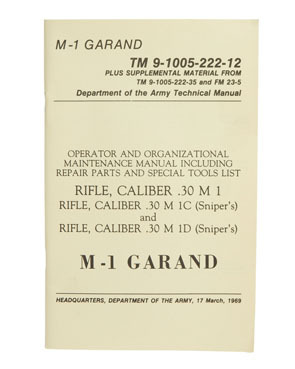 US technical manual M1 Garand