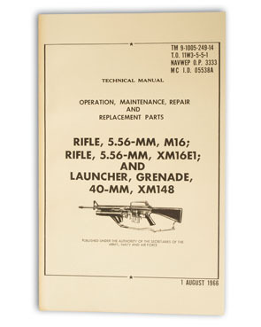 US technical manual M16 + grenade launcher M16