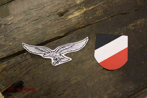 Luftwaffe Helmet decals for M35,M40,M42 steel helmet
