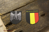 Wallonie helmet decals for M35,M40,M42 steel helmet