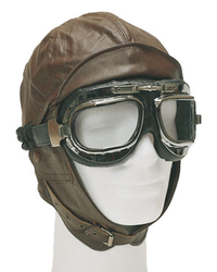styled aviation cap, brown