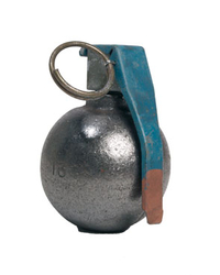 "US M67 ""Baseball"" grenade decoration, metal"