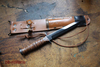 US fighting knife M3 + M6 leather scabbard