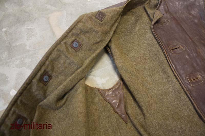 Combat Lederweste oliv Leder Weste Armee Jacke gebr. Original Brit