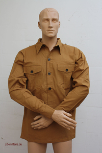 WX field shirt brown, zib-militaria