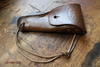 US belt holster for Colt 1911, darker brown