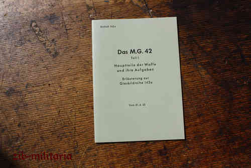 "WH Manual ""Das MG42"""