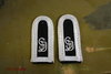 Shoulder Boards Wehrmacht Feldwebel GD, white on black