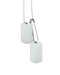 US dog tag set WW2 with silencers