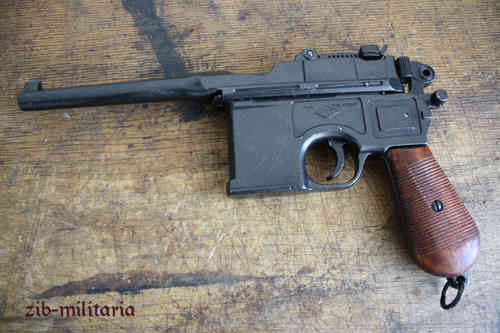 WH Mauser C96, wooden grip, pistol model