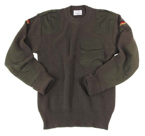 German Army pullover, TL oliv, 80% wool