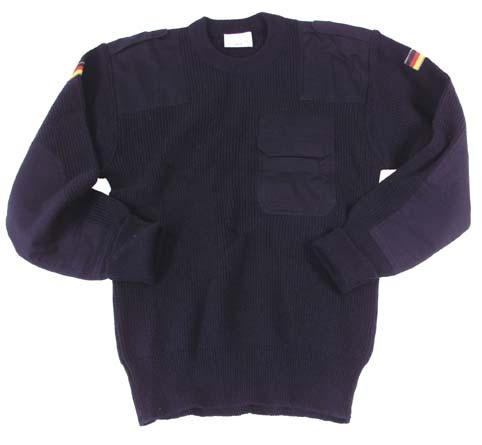 German Army pullover, TL blue, 80% wool