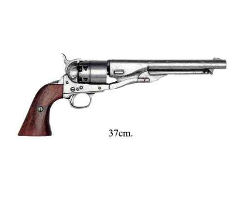 Civil War USA revolver manufactured by S. Colt, silver, 1886