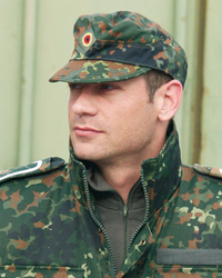 German Army field cap, pea dot