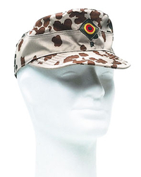 German Army field cap, desert pea dot