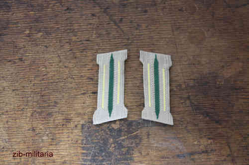 Collar Tab Wehrmacht, yellow, formed