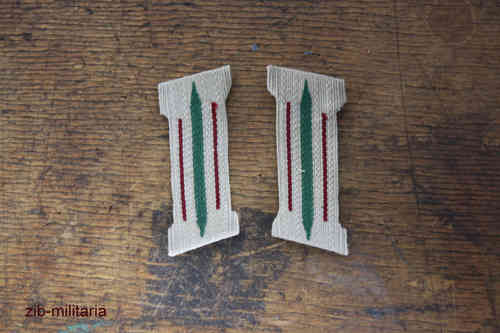 Collar Tab Wehrmacht, bordeaux, formed