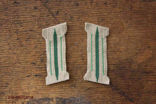 Collar Tab Wehrmacht, light-green, formed