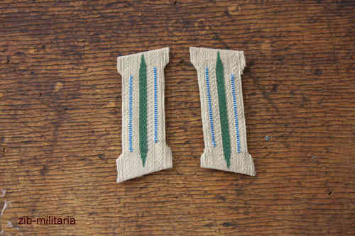 Collar Tab Wehrmacht, light-blue, formed