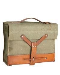 Swiss Army canvas-leather bag