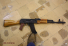 AK74 (Bulgaria) deactivated, bright wood, deactivated assault rifle