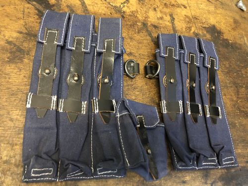 WH LW mag pouches MP40, zib-militaria, blue, Luftwaffe
