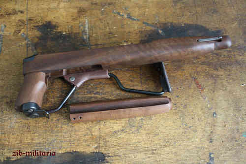 M1 carbine folding stock with upper handguard, wooden