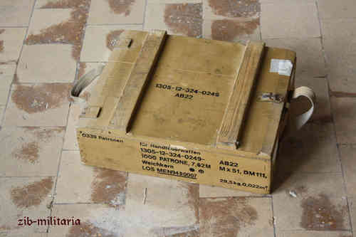 German Army ammo crate, 5.56mm MANKO