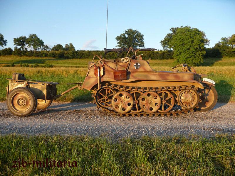 Kettenkrad Stoewer Stettin, 1943, with trailer - zib-militaria.de