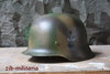 Steel helmet with three-colour-camo, rough