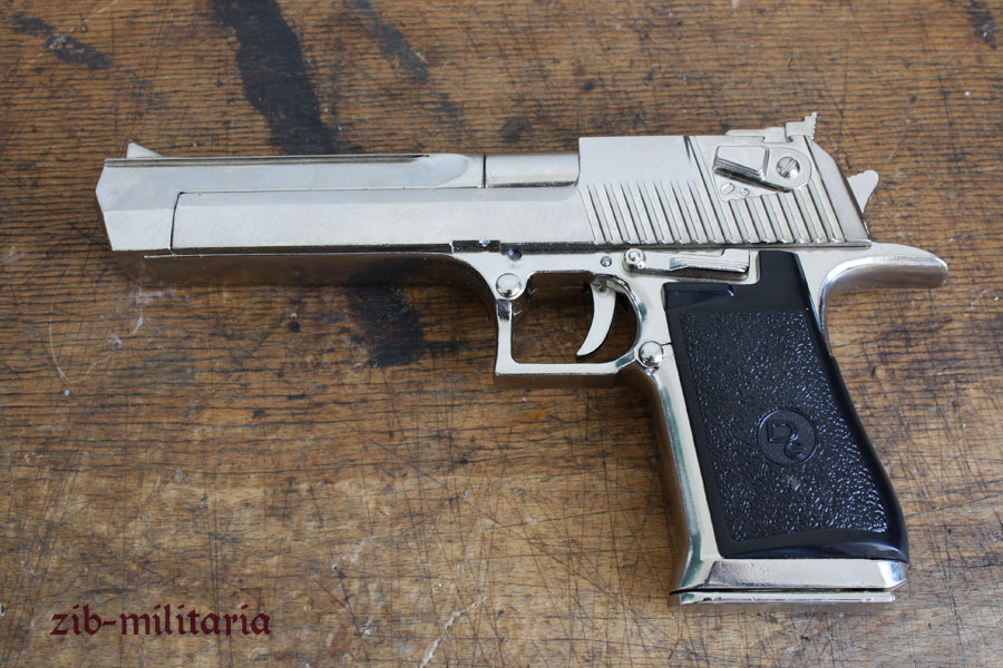 Famous Big Israelian Pistol Nickled Pistol Model