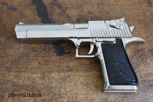 Famous big israelian pistol, nickled, pistol model