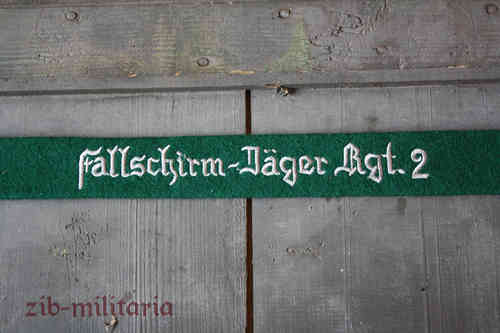 "WH LW armband ""Fallschirm-Jäger Rgt.2"", green, embroidered"