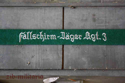 "WH LW armband ""Fallschirm-Jäger Rgt.3"", green,embroidered"