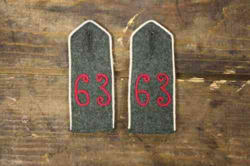 WW1 shoulder boards Infantry rgt 63 - 4 upper silesian inf. rgt nr. 63